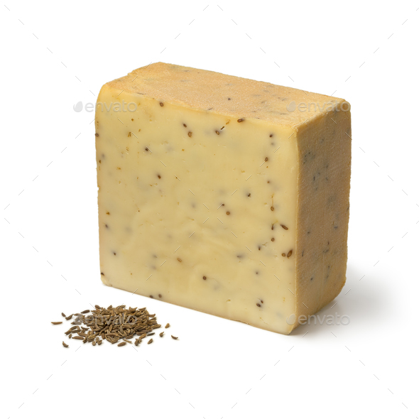 German caraway cheese and seeds - Stock Photo - Images