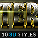 10 3D Styles vol. 12 - GraphicRiver Item for Sale