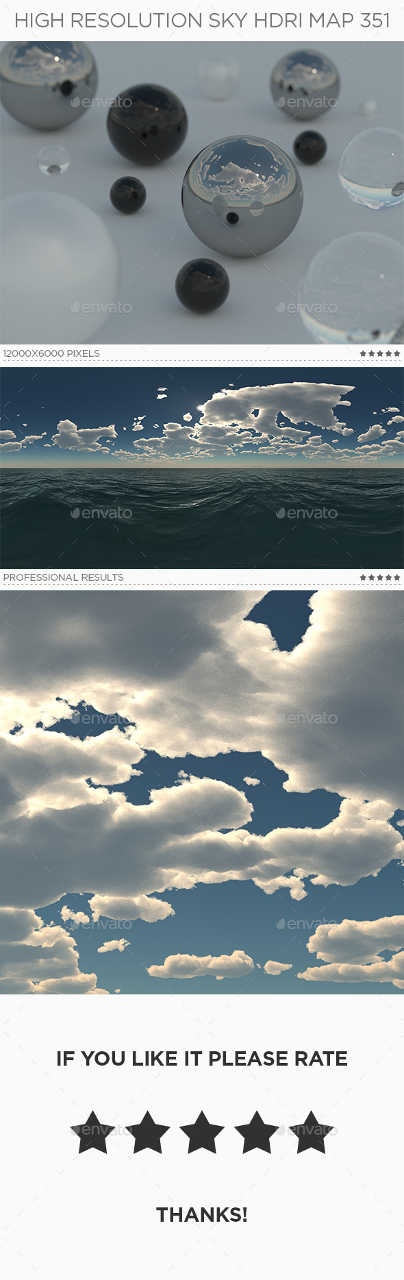 High Resolution Sky HDRi Map 351 - 3DOcean Item for Sale