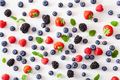 assorted berries over white background. blueberry, strawberry, r - PhotoDune Item for Sale