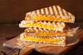 grilled cheese sandwich on rustic brown background - PhotoDune Item for Sale