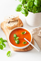 tomato soup on white backgorund - PhotoDune Item for Sale