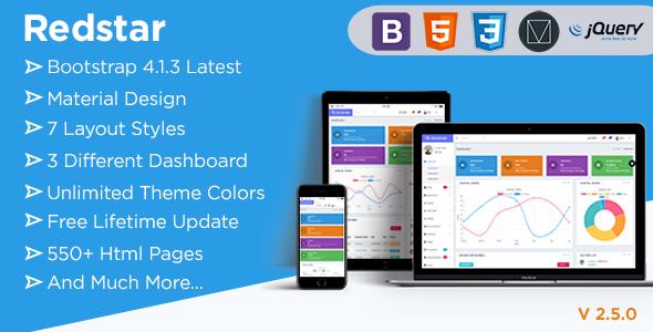 RedStar Hospital - Bootstrap 4 Material Admin Dashboard Template - Admin Templates Site Templates