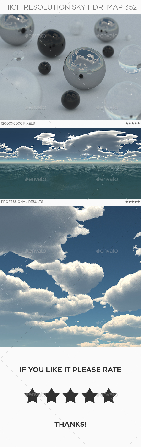 High Resolution Sky HDRi Map 352 - 3DOcean Item for Sale