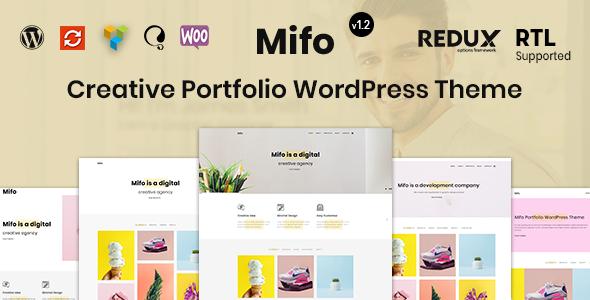Mifo - Creative Minimal Portfolio WordPress Theme - Portfolio Creative