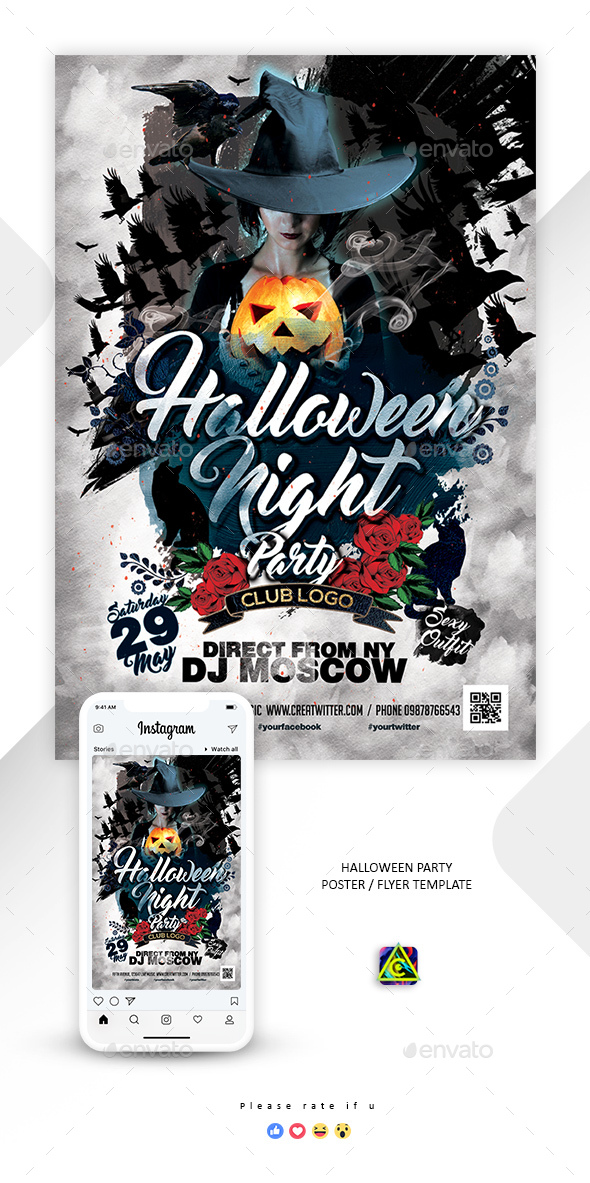 Halloween Party Poster / Flyer - Clubs & Parties Events