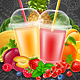 Fruits and Berries Smoothie Drink - GraphicRiver Item for Sale