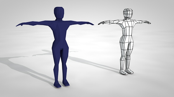 Pack of Low Poly People and Rigged Model with UVW