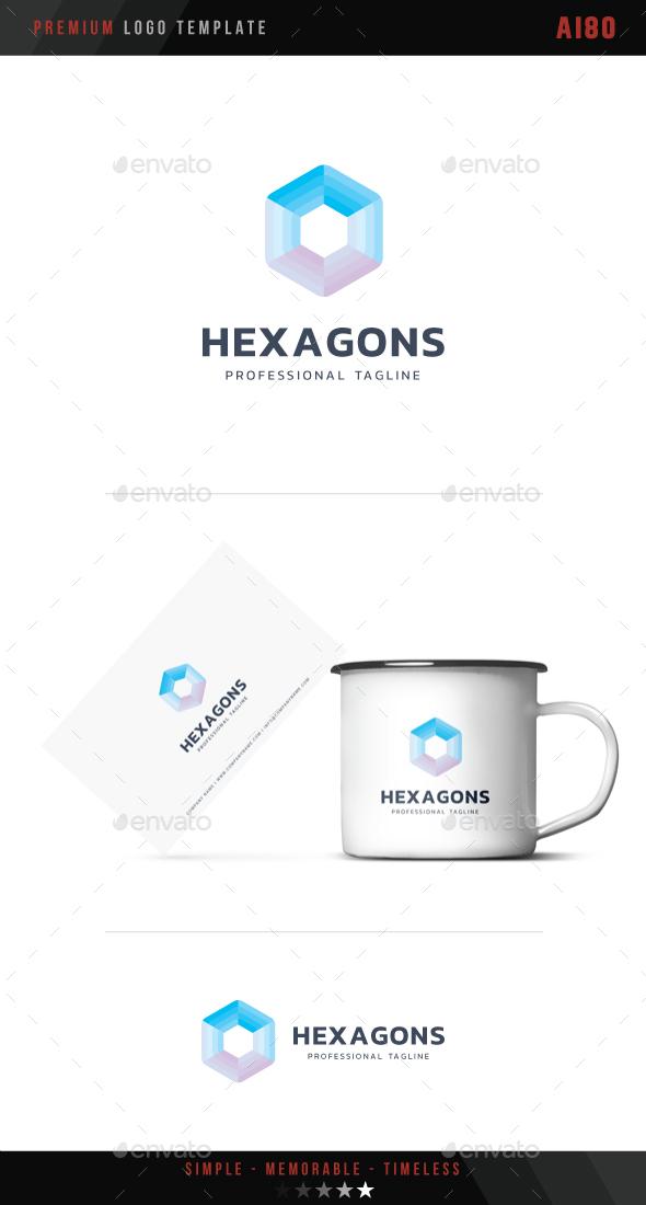 Hexagons Logo - Abstract Logo Templates
