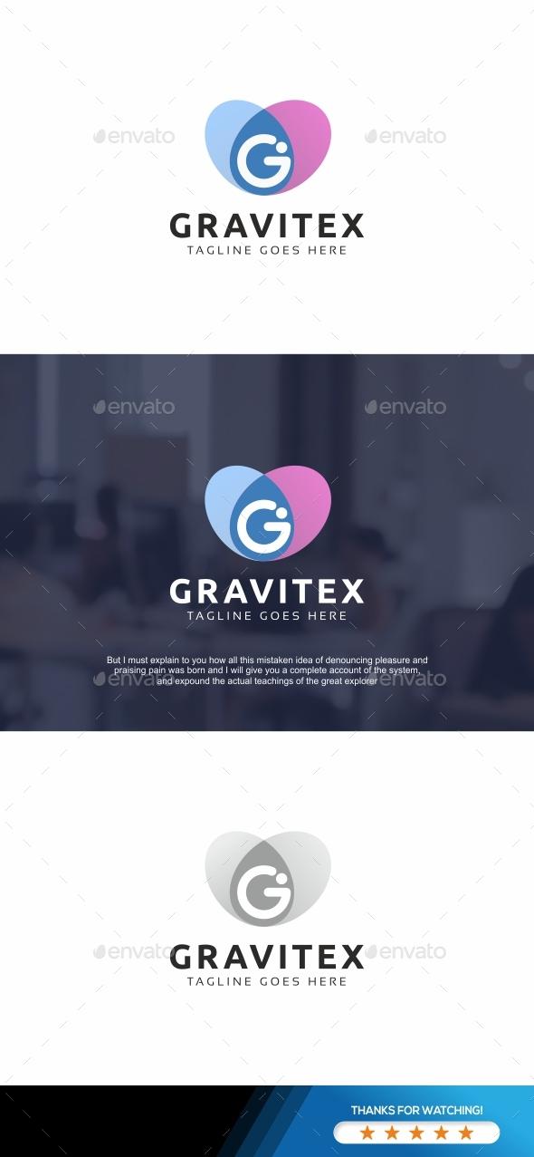 Gravitex G Letter Logo - Letters Logo Templates