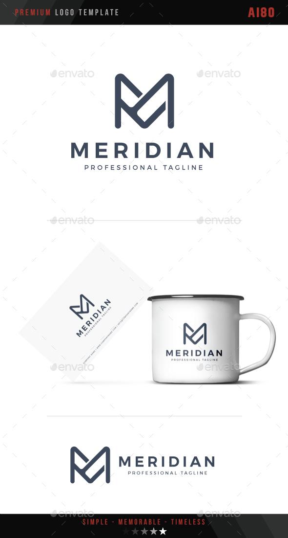Letter M - Meridian Logo - Letters Logo Templates