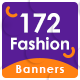 Fashion Sale Banner Set Bundle - 10 Sets - 172 Banners - GraphicRiver Item for Sale