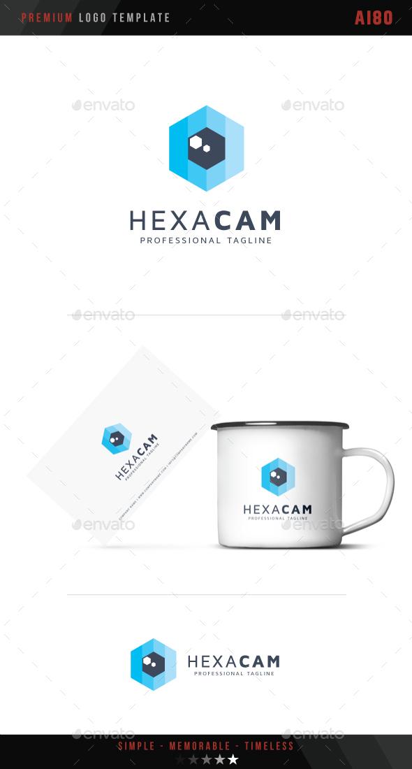 Hexagonal Camera Logo - Symbols Logo Templates