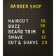 Isolated Barber Shop Prices - PhotoDune Item for Sale
