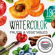 Watercolor Fruits And Vegetables - VideoHive Item for Sale