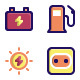 Energy Filled Line Icons - GraphicRiver Item for Sale
