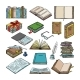 Books Vector Stack of Textbooks and Notebooks