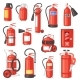 Fire Extinguisher Vector Fire-extinguisher for - GraphicRiver Item for Sale