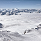 Ski resort in the Alps. Ski slopes, piste, powder snow in the mountains - PhotoDune Item for Sale