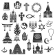 World Religions Vector Symbols and Signs - GraphicRiver Item for Sale