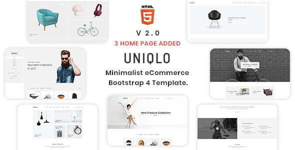 Uniqlo - Minimalist eCommerce Template - Shopping Retail