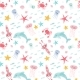 Watercolor Sea Life Pattern - GraphicRiver Item for Sale