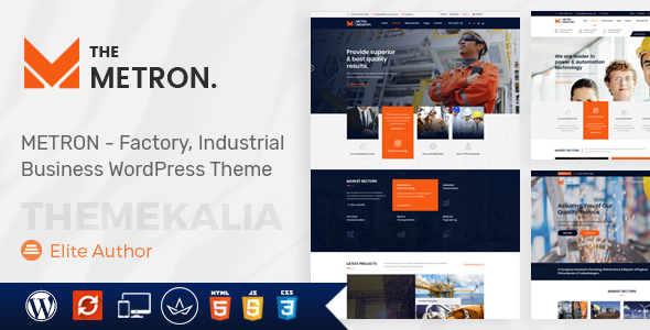 Metron- Industry & Factory Business WordPress Theme - Business Corporate