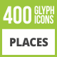 410 Places Glyph Inverted Icons - GraphicRiver Item for Sale