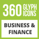 360 Business & Finance Glyph Inverted Icons - GraphicRiver Item for Sale