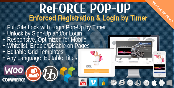 ReForce - User Registration Pop-Up - CodeCanyon Item for Sale