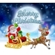 Merry Christmas Santa Sleigh Cartoon Graphic - GraphicRiver Item for Sale