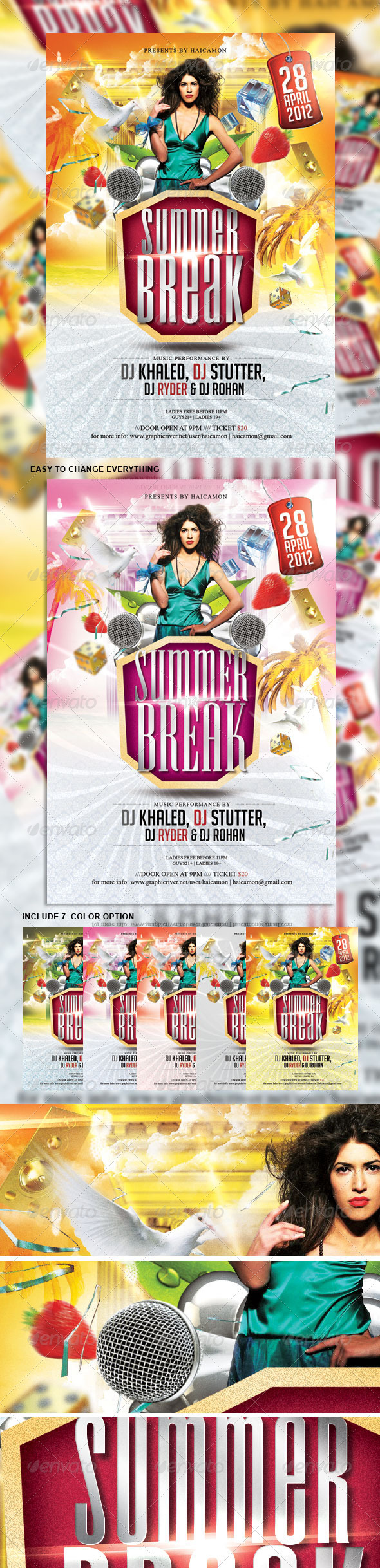Summer Break Party Flyer - Events Flyers