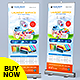 Laundry Service Roll-Up Banner - GraphicRiver Item for Sale