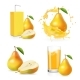 Pears Juice Realistic Set - GraphicRiver Item for Sale