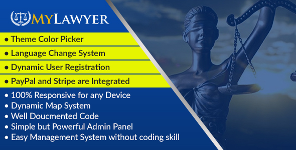 MyLawyer - Dynamic Lawyer Directory System Script