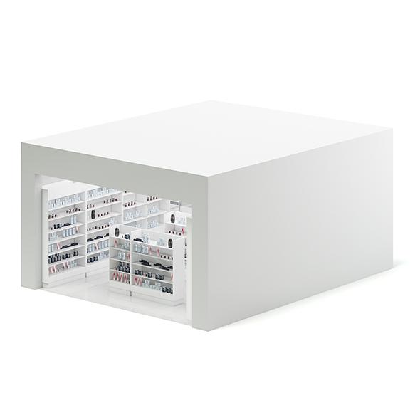 Cometics Store 3D Model - 3DOcean Item for Sale