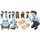 Police Officers and Police Car Set - GraphicRiver Item for Sale