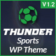 Thunder - Sports News & Magazine WordPress Theme - ThemeForest Item for Sale