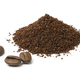 Heap of ground coffee and some coffee beans - PhotoDune Item for Sale