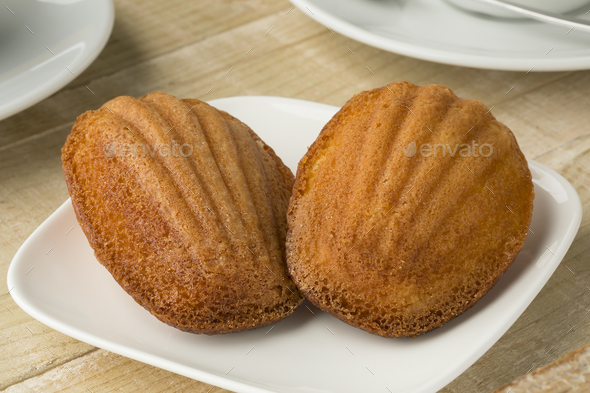 Fresh baked French madeleines - Stock Photo - Images