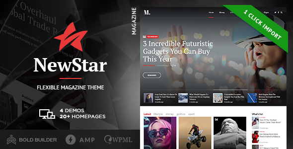 NewStar - News Magazine Newspaper - Blog / Magazine WordPress