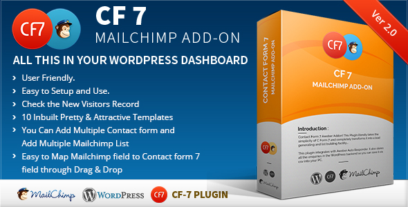 CF7 7 Mailchimp Add-on - CodeCanyon Item for Sale