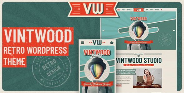 VintWood - a Vintage, Retro WordPress Theme