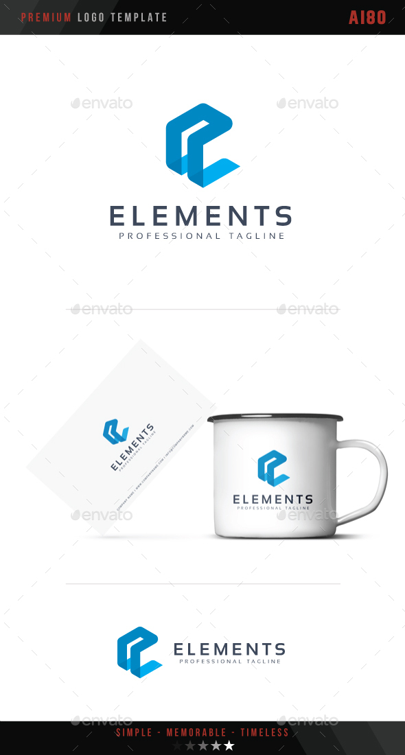 Letter E - Elements Logo - Abstract Logo Templates