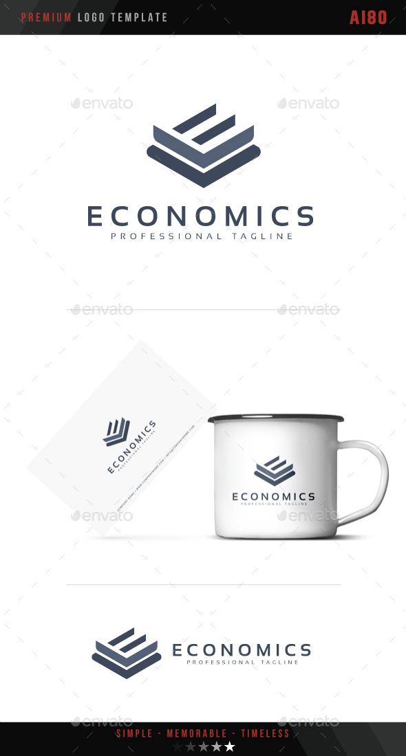 Letter E - Economics Logo - Abstract Logo Templates