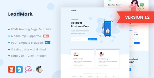 LeadMark - Business HTML Landing Page Template by Morad