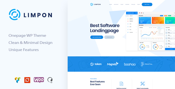 Limpon - App & Software Landing Page WordPress Theme