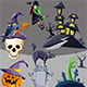 10 Halloween Elements - GraphicRiver Item for Sale