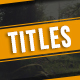 Titles and LowerThirds - VideoHive Item for Sale