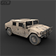 """DC humvee """"Low Poly"""" with Full textures"""